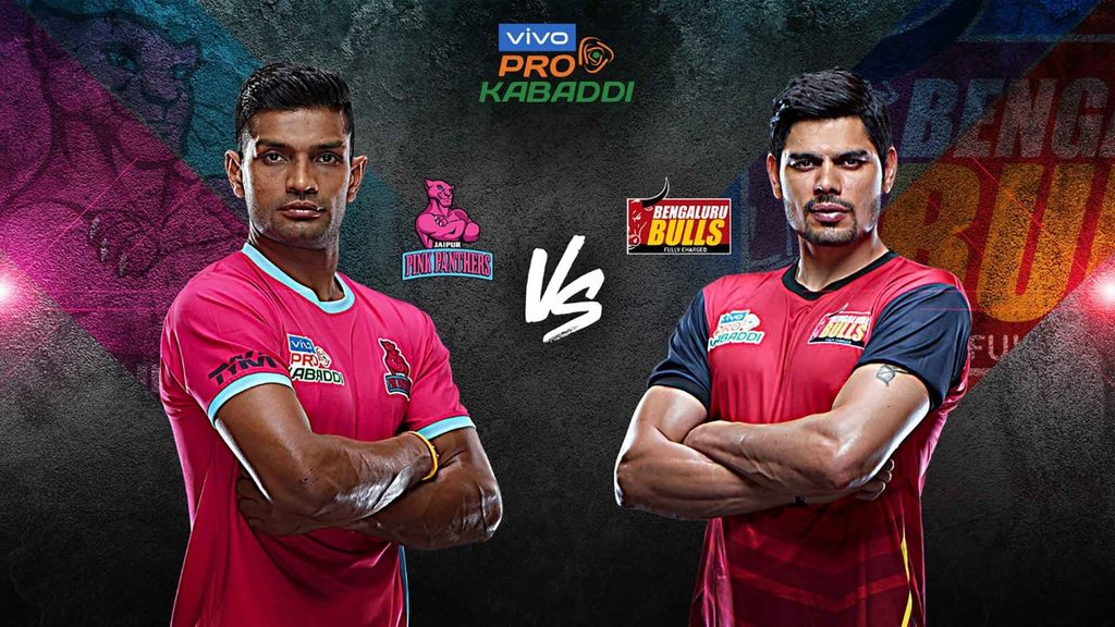 Jaipur Pink Panthers take on Bengaluru Bulls in match 120 of vivo Pro Kabaddi Season 7.