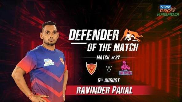 Match 27: Defender of the Match - Ravinder Pahal