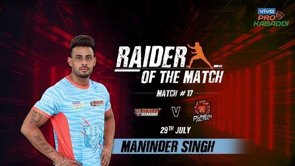 Match 17: Raider of the Match - Maninder Singh