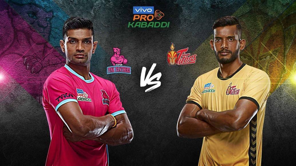 League-leaders Jaipur Pink Panthers face a tough Telugu Titans assignment