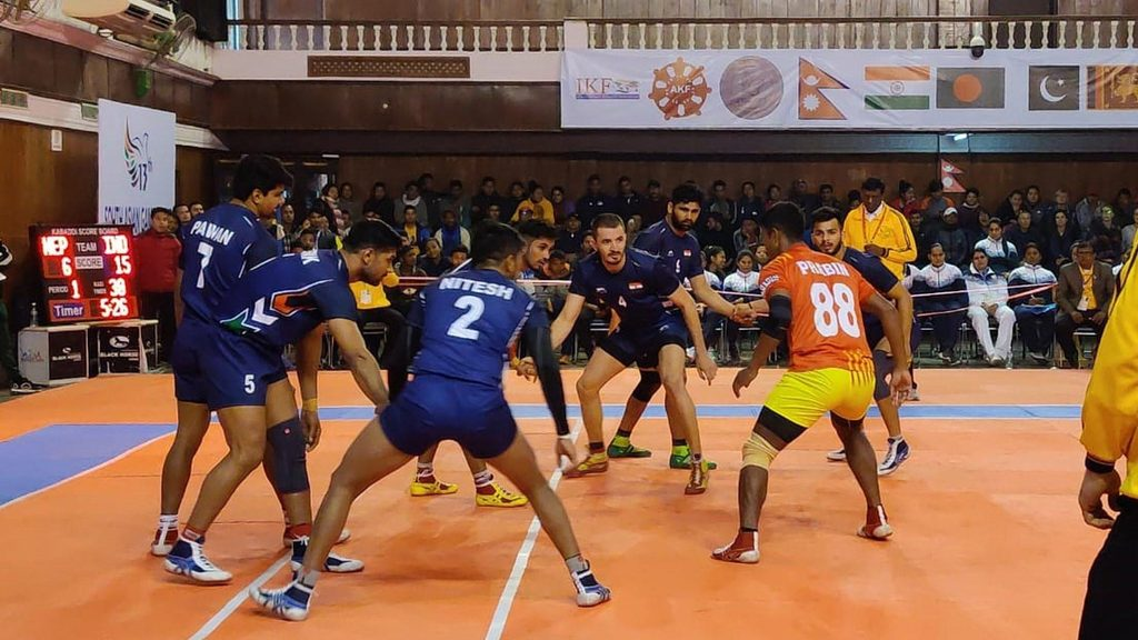 India national kabaddi team beat Nepal in the South Asian Games 2019