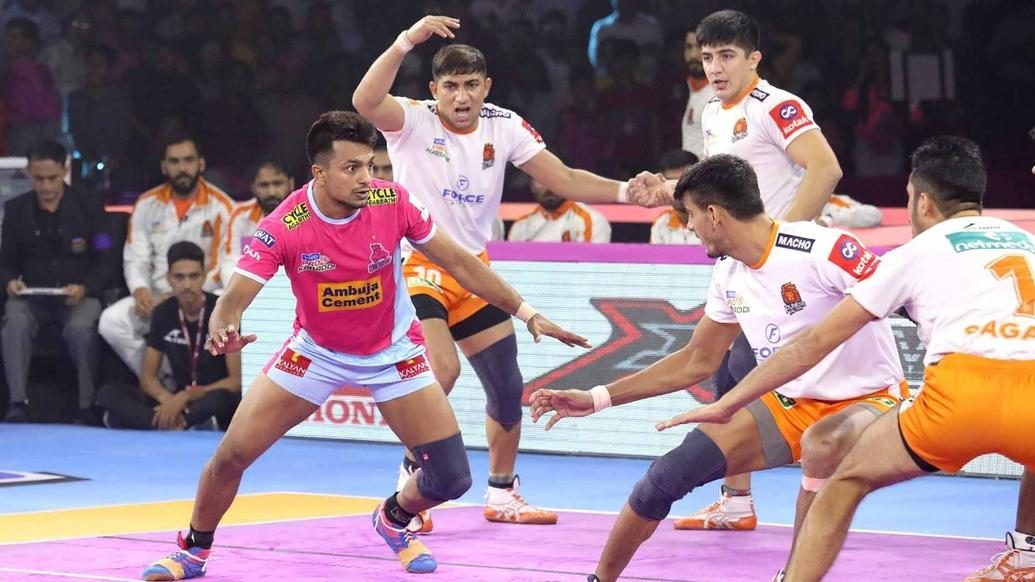 Jaipur Pink Panthers beat Puneri Paltan to secure first home win