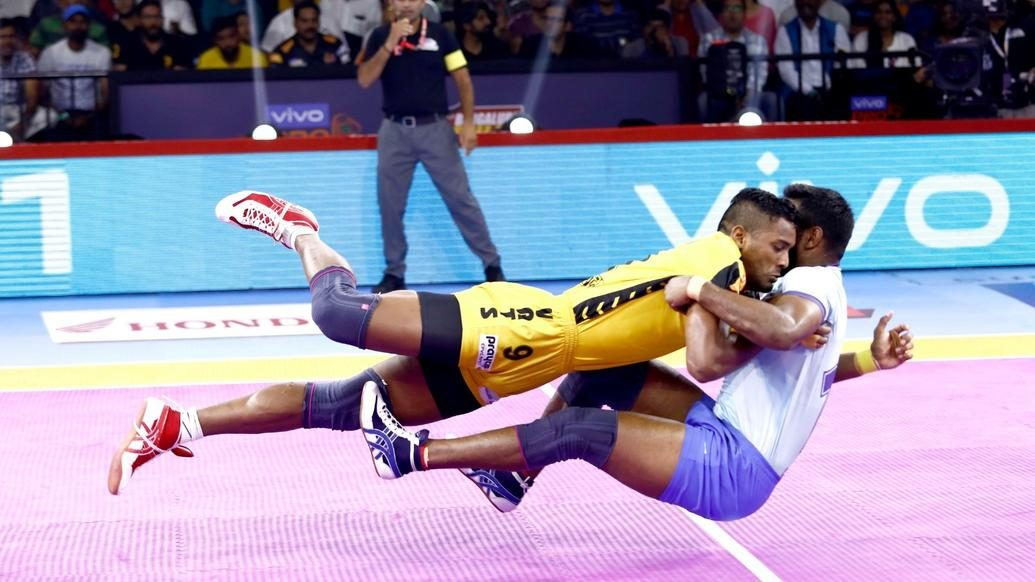 """Five times the words """"Kabaddi Fit"""" came to life on the mat"""