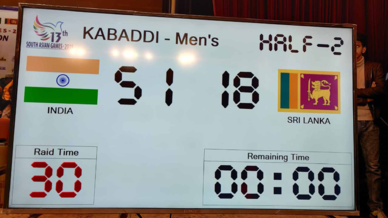 South Asian Games 2019 final: India clinch gold