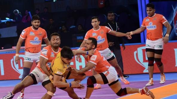 Puneri Paltan finish their season with a comprehensive win over Telugu Titans