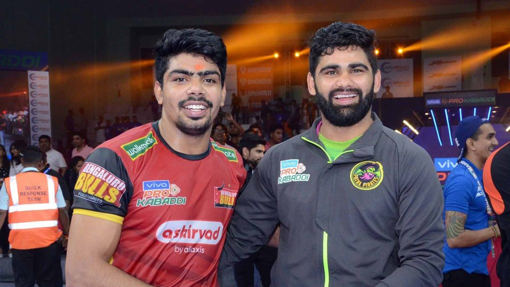 Pawan Sehrawat broke Pardeep Narwal's record of most raid points in a match.