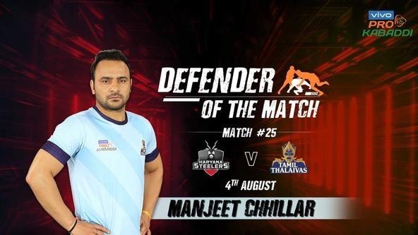 Match 25: Defender of the Match - Manjeet Chhillar