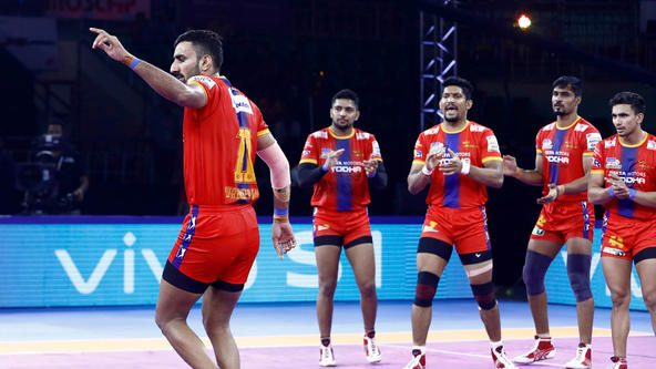 U.P. Yoddha overcome table-toppers Jaipur Pink Panthers with a sturdy display