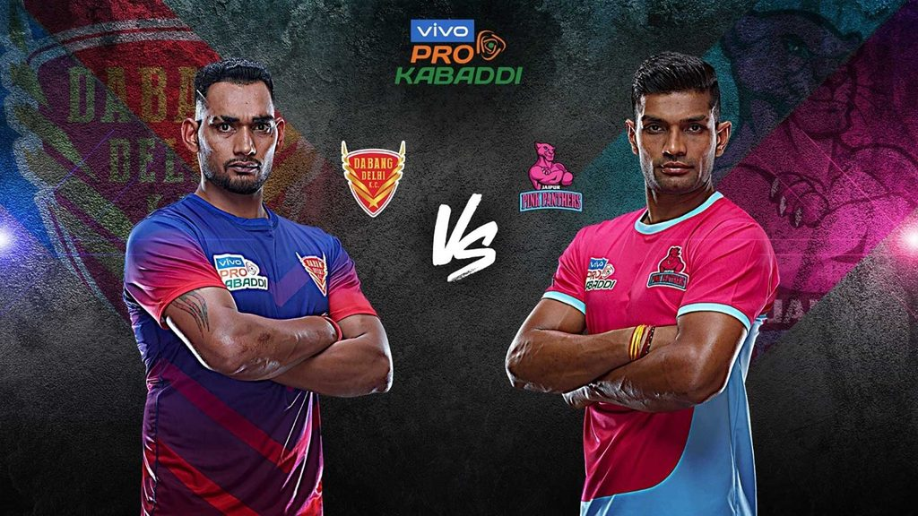 Dabang Delhi K.C. face Jaipur Pink Panthers in Match 27 of VIVO Pro Kabaddi Season 7.