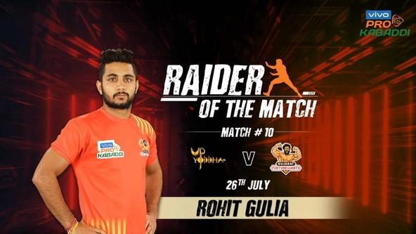 Match 10: Raider of the Match - Rohit Gulia