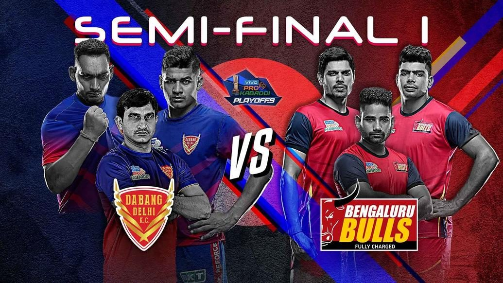 Dabang Delhi K.C. to battle Bengaluru Bulls for a place in the vivo Pro Kabaddi Season 7 final