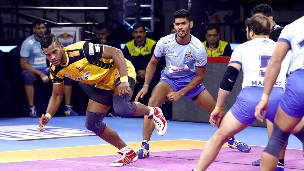 Siddharth Desai reached 300 raid points against Tamil Thalaivas.