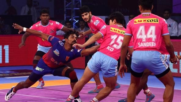 Jaipur Pink Panthers, Dabang Delhi K.C. settle for tie after intense encounter