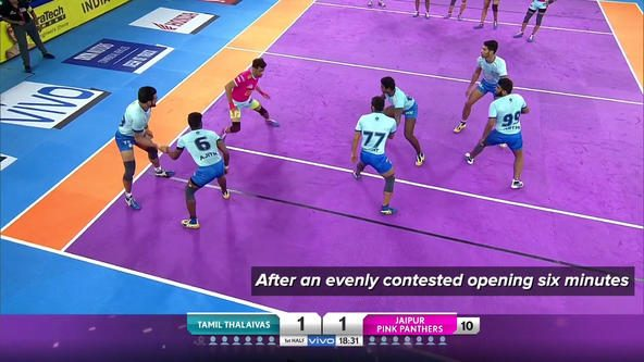 Match in 90 Seconds: Tamil Thalaivas vs Jaipur Pink Panthers