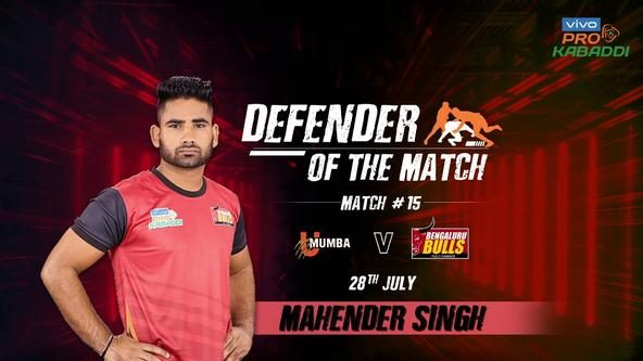 Match 15: Defender of the Match - Mahender Singh