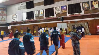 Glimpses of India kabaddi team at South Asian Games 2019