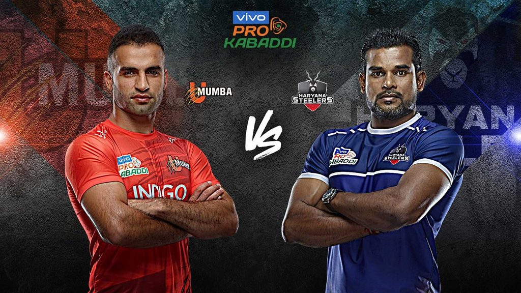 U Mumba will battle Haryana Steelers in Match 49 of VIVO Pro Kabaddi Season 7