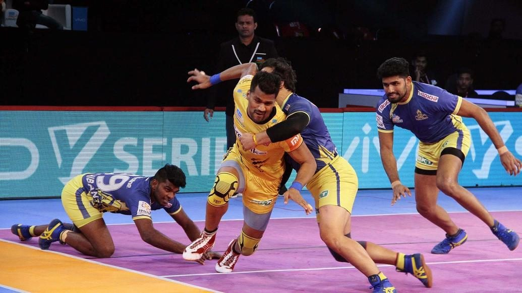 Defence trumps as Tamil Thalaivas come out on top against Telugu Titans