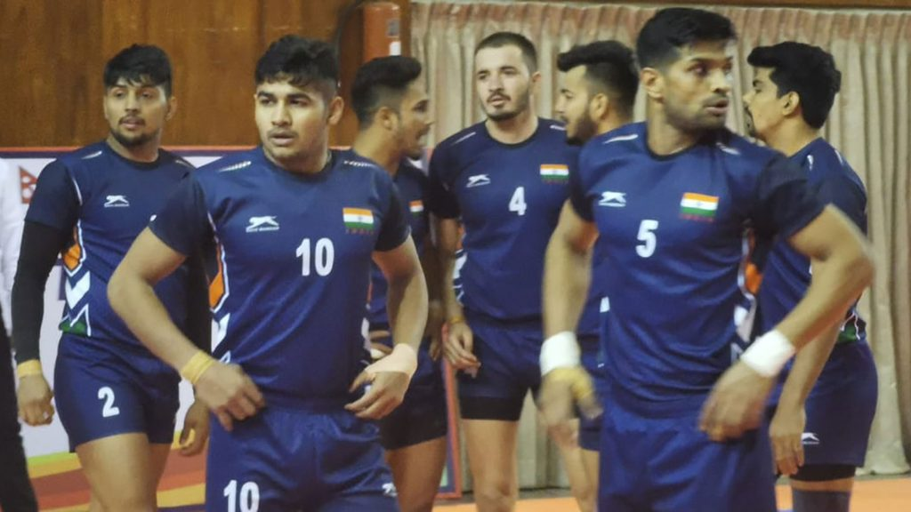 India national kabaddi team beat Pakistan in the South Asian Games 2019.