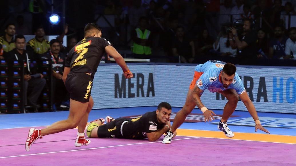 Bengal Warriors overcome Telugu Titans' defence to remain unbeaten