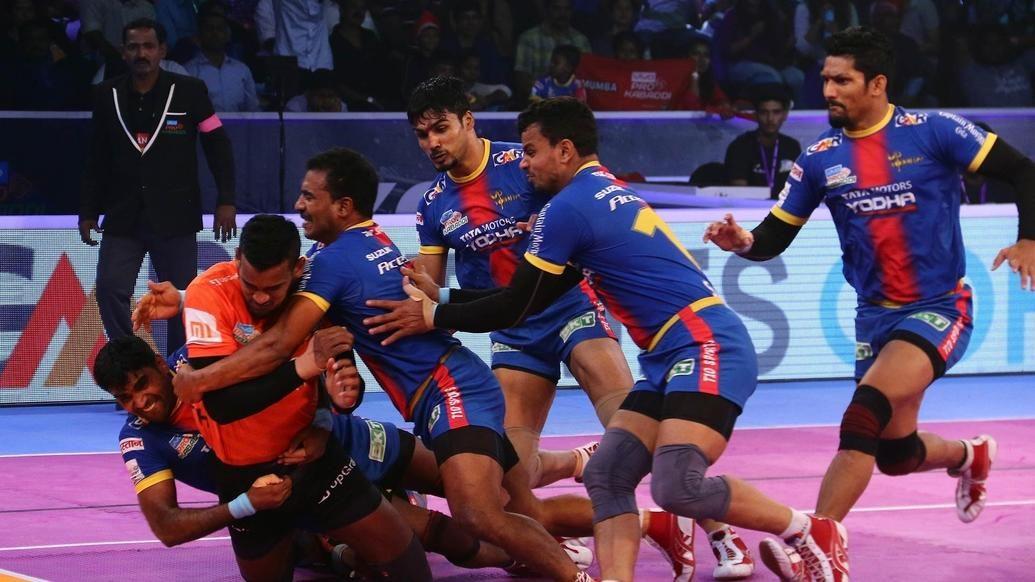 Daunting display of defence takes U.P. Yoddha to Eliminator 3